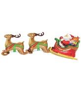 7' Multi-Sided Super Dimensional™ Santa & 2 Reindeer