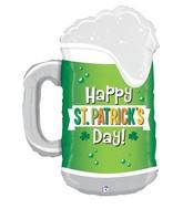 "34"" Foil Shape St. Patrick's Day Green Beer"