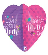 "23"" Multi-Sided Foil Shape Dimensionals Mother's Day Heart"