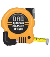 "30"" Foil Shape Packaged Tape Measuring Dad"