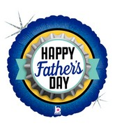 """18"""" Holographic Balloon Father's Day Bottle Cap"""