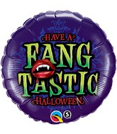 "18"" Have a Fangtanstic Halloween Balloon"