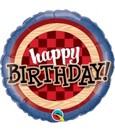 """18"""" Packaged Birthday Red Flannel Plaid"""