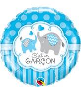 """18"""" Packaged C'Est Un Garcon Elephants"""