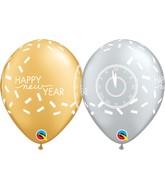 "11"" All Around Latex Balloons New Years Confetti"