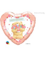 "18"" Heart Forever Friends-Birthday Bear"