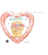 """18"""" Heart Packaged Forever Friends-Birthday Bear"""