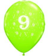 "11"" Trendy Assorted 50 Count 9 Confetti All Around"