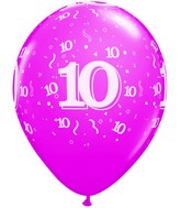 "11"" Trendy Assorted 50 Count 10 Confetti All Around"