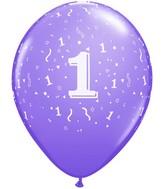 "11"" Trendy Assorted 50 Count 0-9 Confetti All Around"