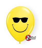 "11"" Yellow 50 Count Smile Face Sunglasses"