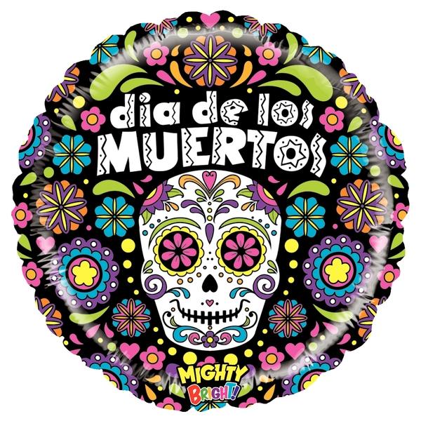 """21"""" Mighty Bright Balloon Mighty Dia de los Muertos"""