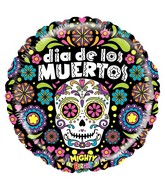 "21"" Mighty Bright Balloon Mighty Dia de los Muertos"