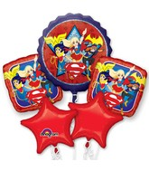 Bouquet Balloon DC Super Hero Girls Foil Balloon