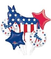 Bouquet Balloon Election Donkey Foil Balloon