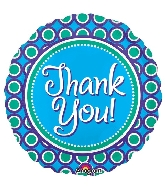 "18"" Junior Shape Thank You Foil Balloon"