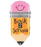 """32"""" Foil Shape Back 2 School Pencil"""