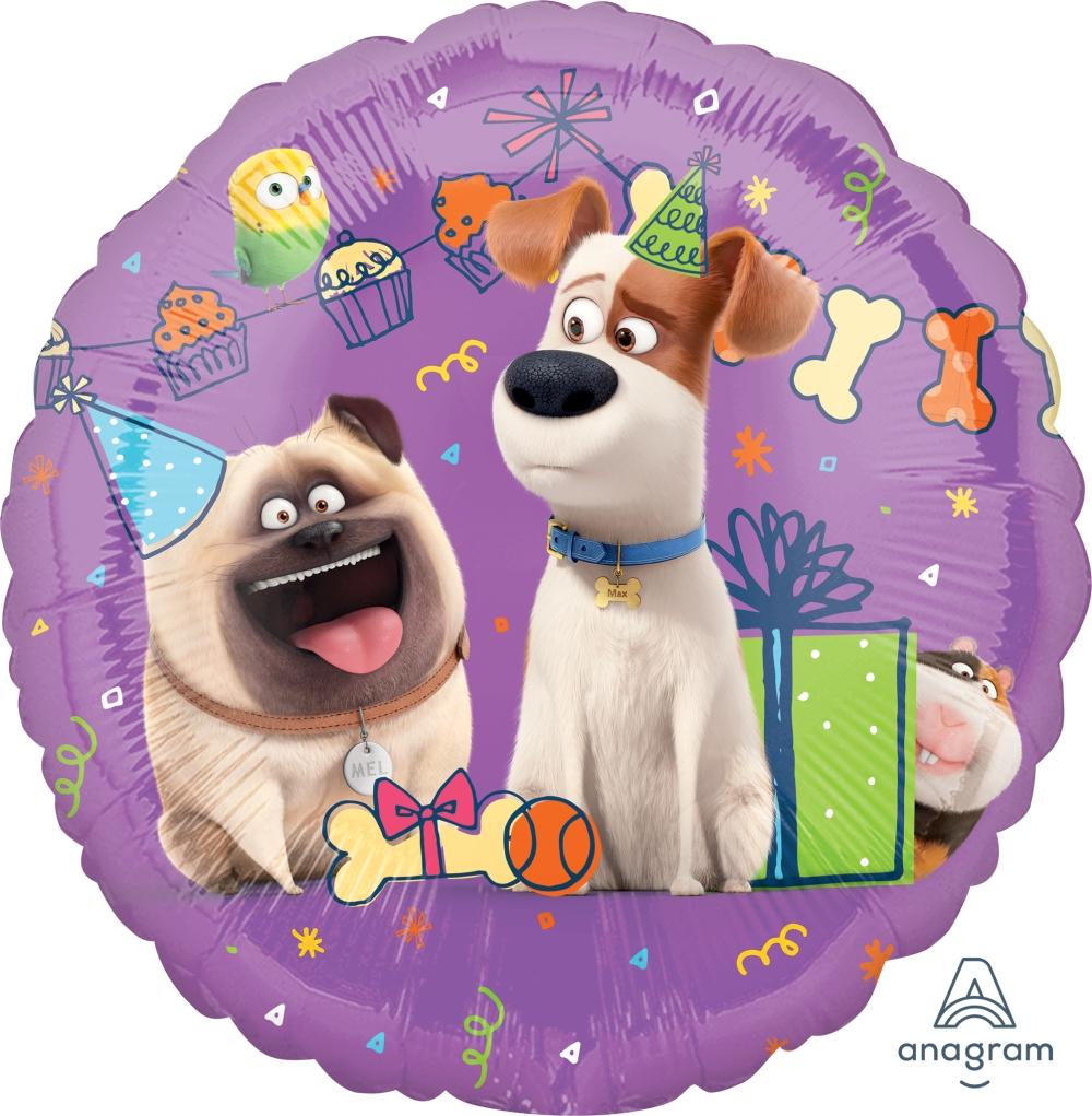 "18"" Party Scene The Secret Life Of Pets Foil Balloon"