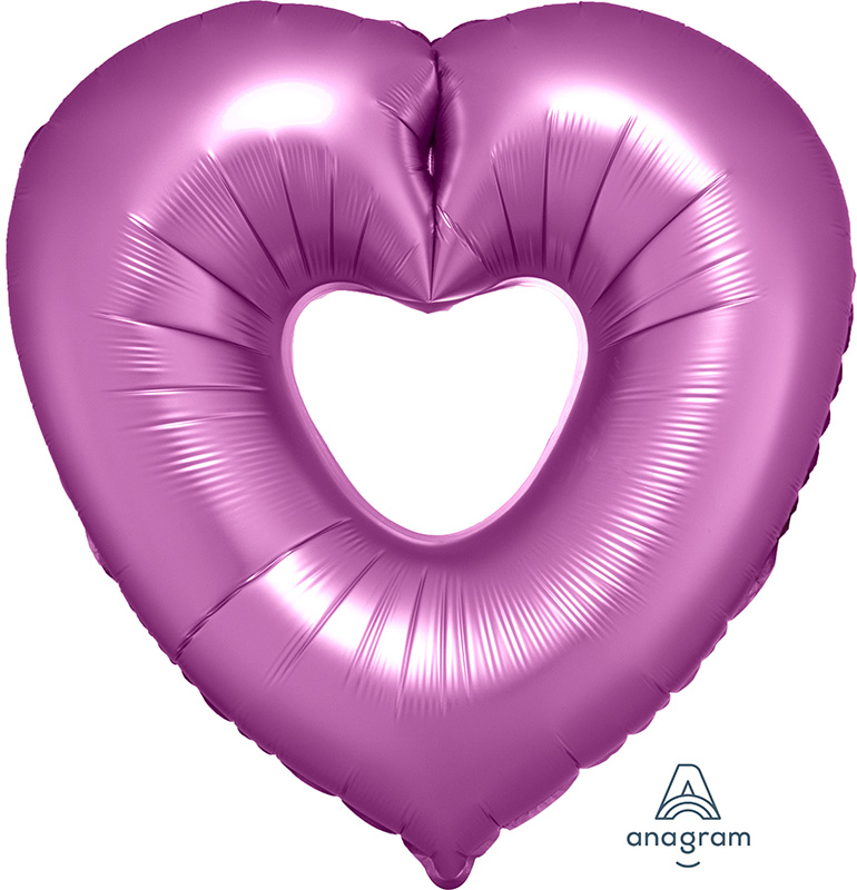 "26"" Flamingo Open Heart SuperShape Foil Balloon"
