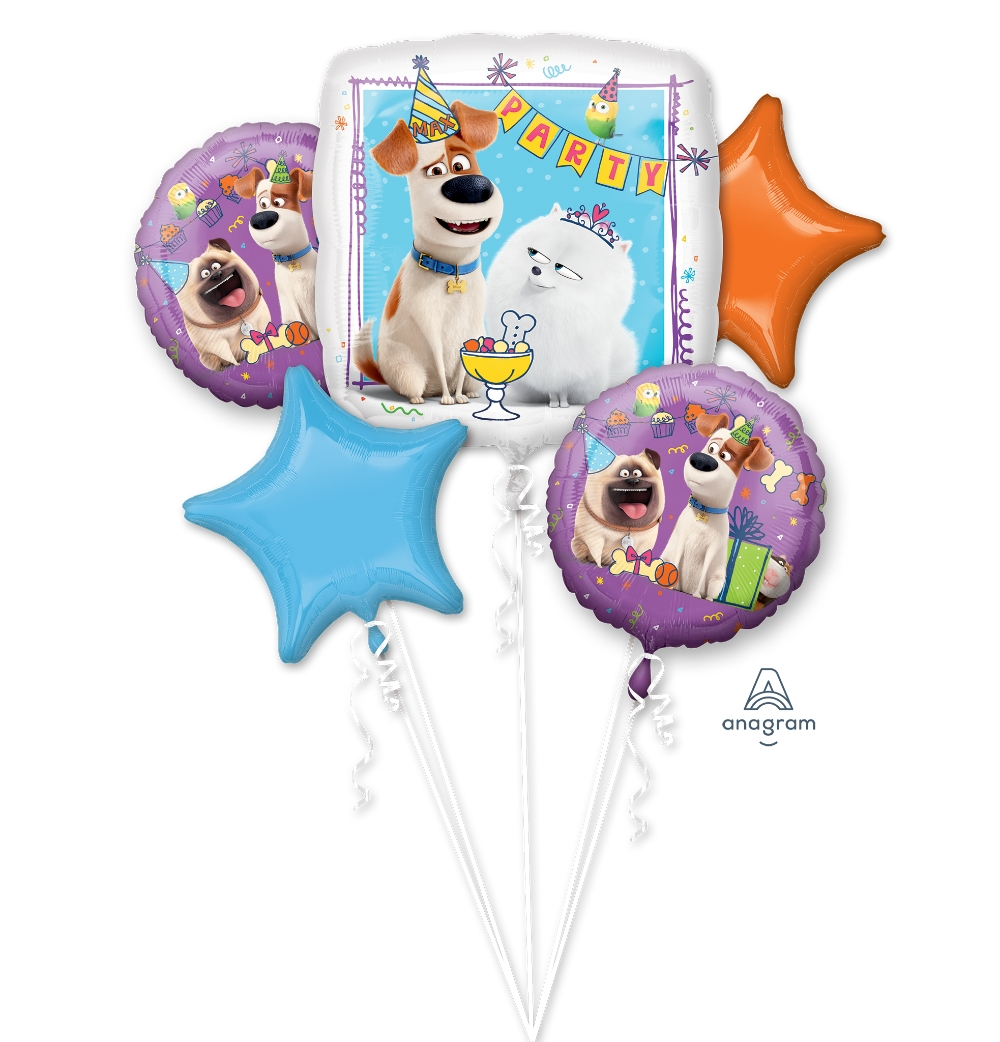 Bouquet The Secret Life Of Pets Five Balloons