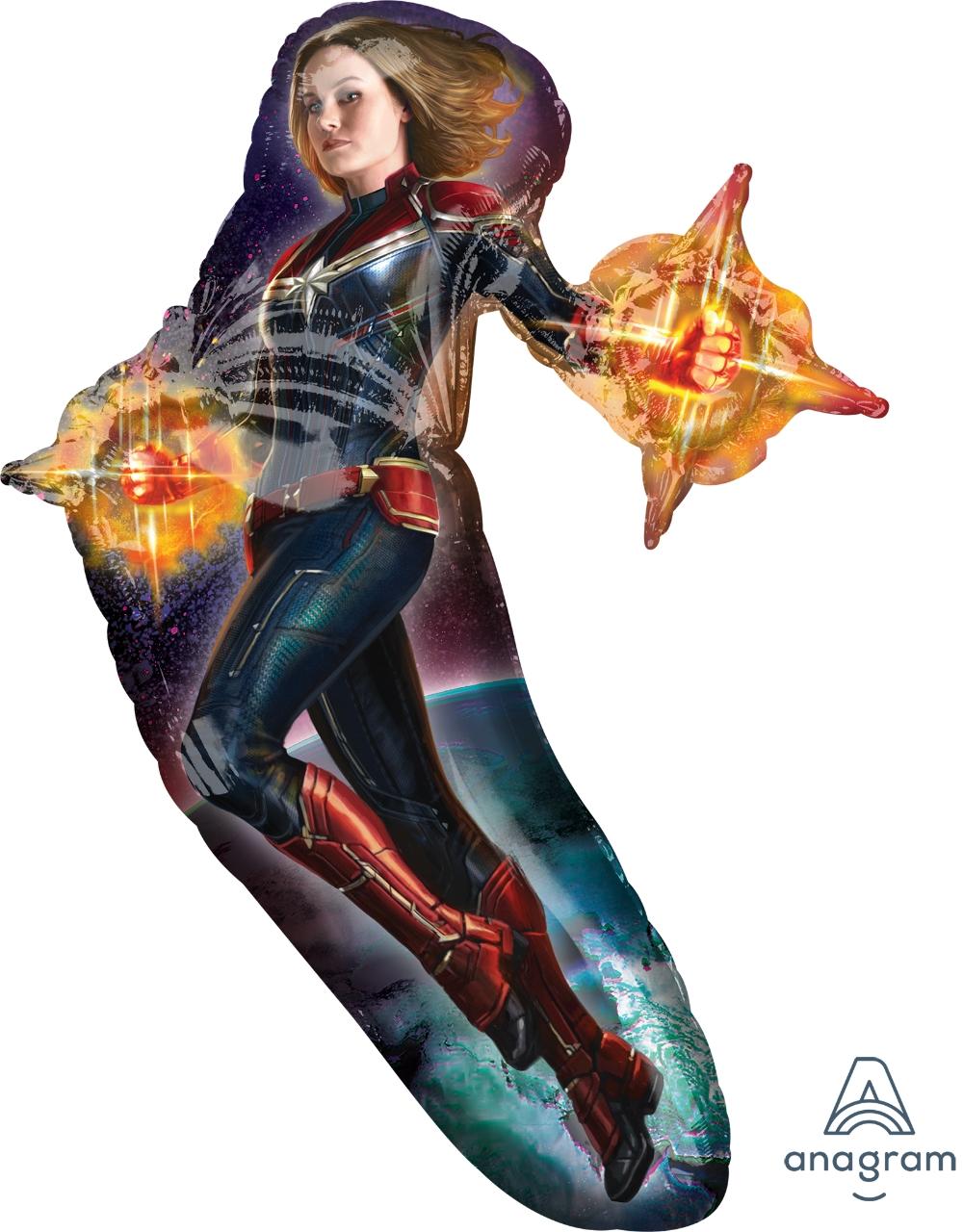 "37"" Captain Marvel Supershape Foil Balloon"