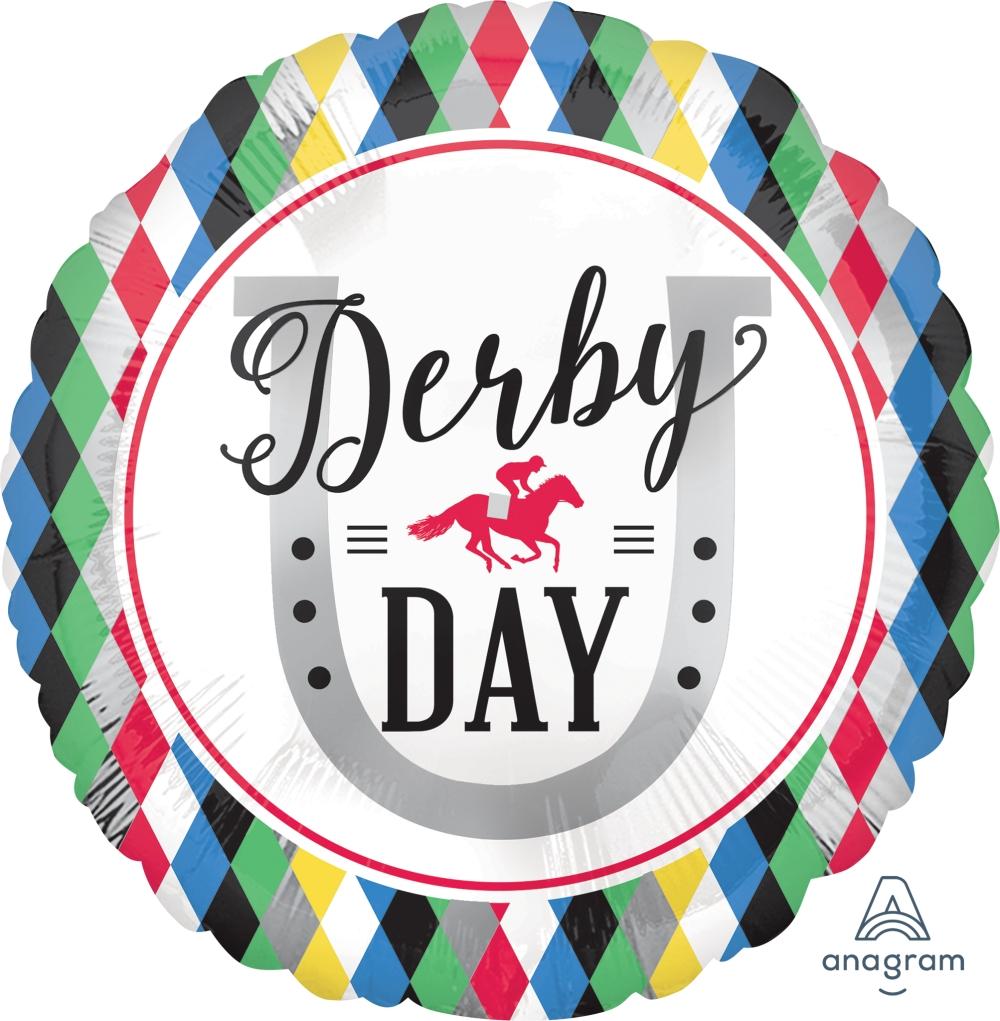 "18"" Derby Day Foil Balloon"