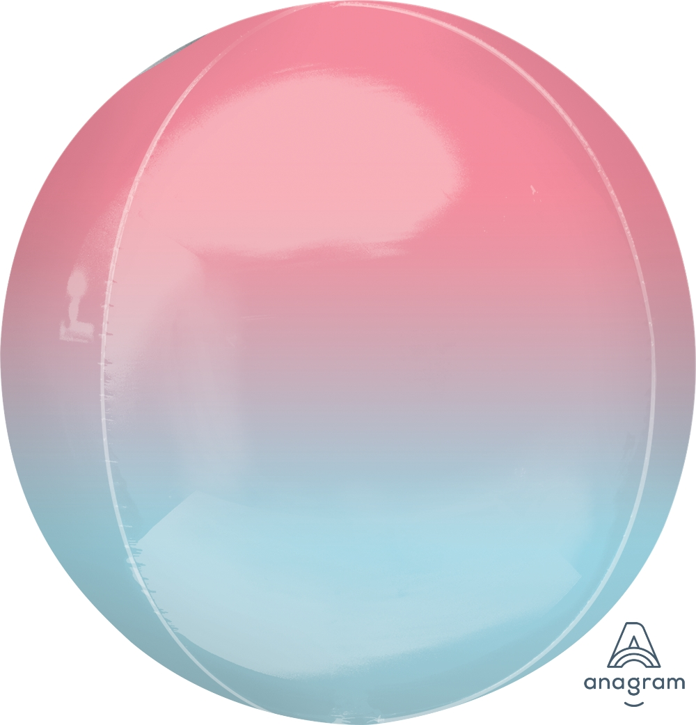 """16"""" Foil Balloon Ombre Orbz Pink and Blue"""
