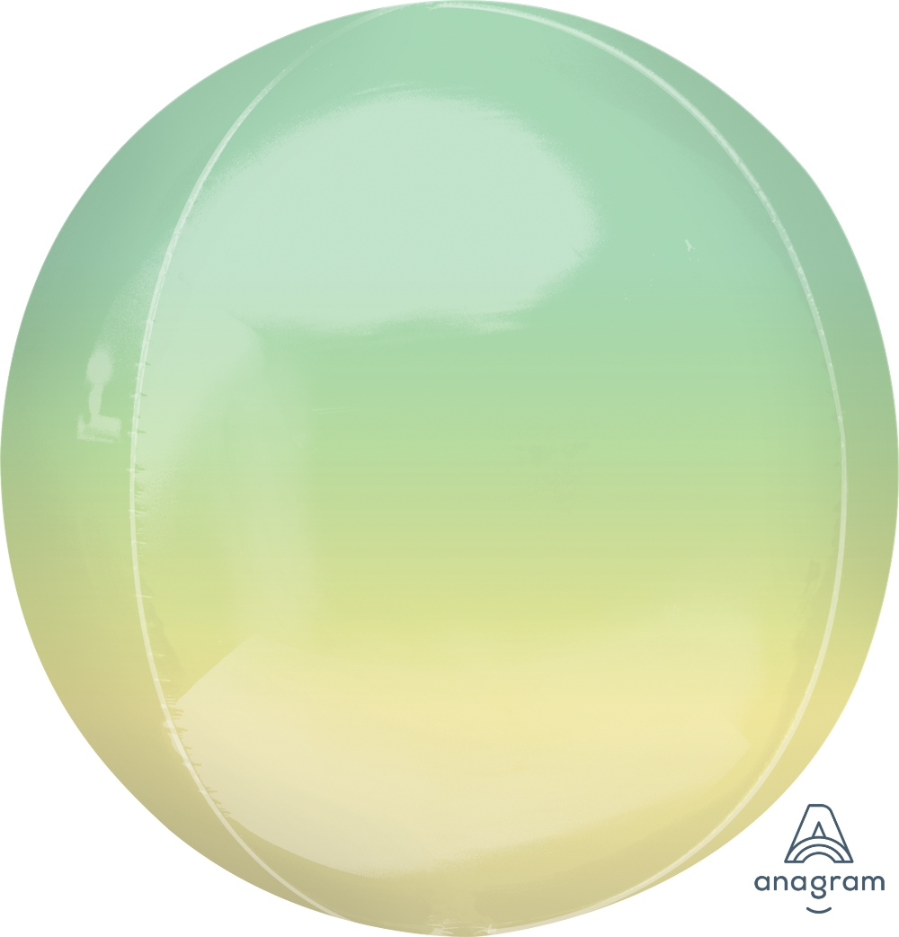 """16"""" Foil Balloon Ombre Orbz Yellow and Green"""