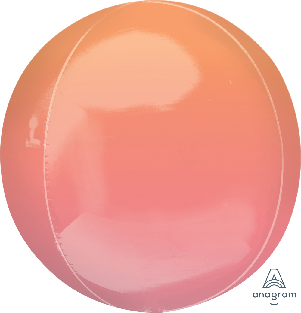 """16"""" Foil Balloon Ombre Orbz Red and Orange"""