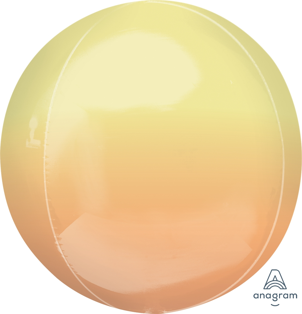 """16"""" Foil Balloon Ombre Orbz Yellow and Orange"""
