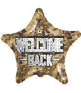 "18"" Welcome Back Camouflage Star Foil Balloon"