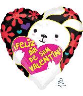 "18"" Feliz Dia de San Valentin Puppy Balloon"
