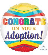 "18"" Congratulations On Your Adoption Balloon"