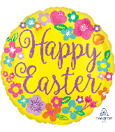 """18"""" Floral Happy Easter Balloon"""