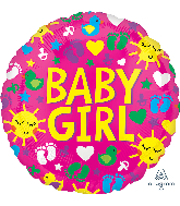 "21"" Baby Girl Sunshine Fun ColorBlast Foil Balloon"