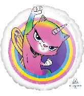 Rainbow Butterfly Unicorn Mylar Balloons