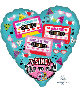 "29"" What I Like About You Tapes Singing Foil Balloon"