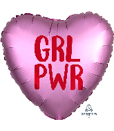 "18"" Satin Infused GRL PWR Foil Balloon"