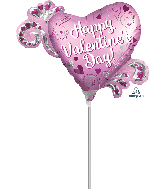 Airfill Only Mini Shape Happy Valentine's Day Foil Balloon