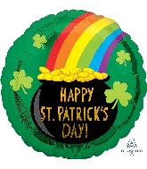 "18"" St. Patrick's Pot of Gold Foil Balloon"