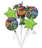 Rise of the Teenage Mutant Ninja Turtles Bouquet Balloon