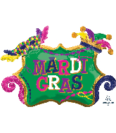 "34"" Mardi Gras Celebration SuperShape Foil Balloon"