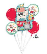 Barnyard Birthday Bouquet Foil Balloon