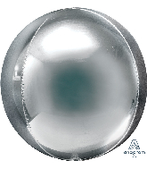 "21"" Orbz Jumbo Silver Orbz Foil Balloon"