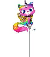 Airfill Only Rainbow Butterfly Unicorn Kitty Foil Balloon