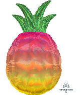 "31"" Iridescent Pineapple Foil Balloon"