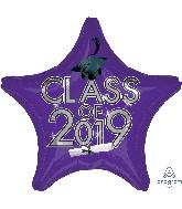 "18"" Class of 2019 - Purple Foil Balloon"