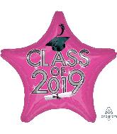 """18"""" Class of 2019 - Pink Foil Balloon"""