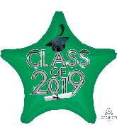 """18"""" Class of 2019 - Green Foil Balloon"""