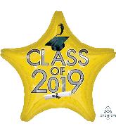 "18"" Class of 2019 - Yellow Foil Balloon"